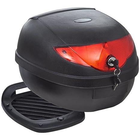 vidaXL Maletero Baúl para Guardar Casco Motos 36 L Negro Equipaje Motocicleta: Amazon.es: Coche y moto