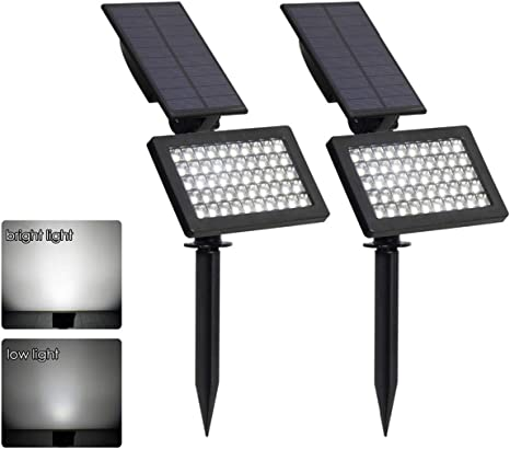 6x Solar Power  Black Outdoor Garden Security Gutter Spot 6 LED Wall Flood Light