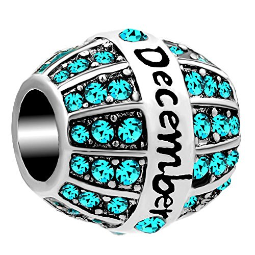 Price comparison product image Third Time Charm December Birthday Charm 12 Colors Beads For Charm Bracelets