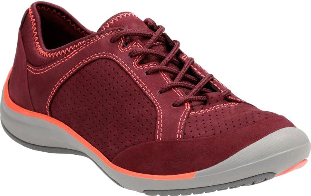 CLARKS Women's Asney Lace Sneaker B01I5O409Y 9 B(M) US Plum Nubuck