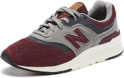 New Balance Herren 997 Leder-Turnschuhe, rot