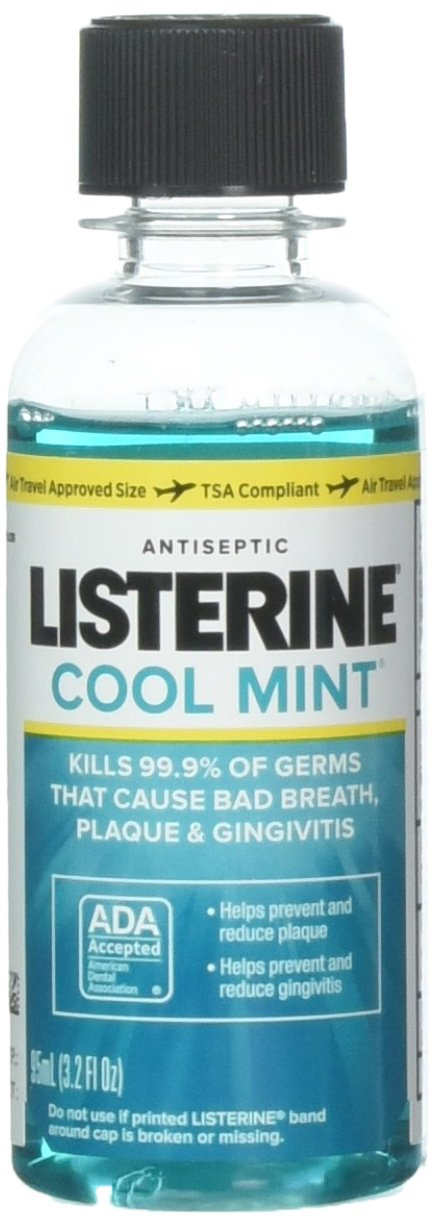 Listerine Antiseptic Mouthwash, Cool Mint 3.2 oz (Pack of 10)
