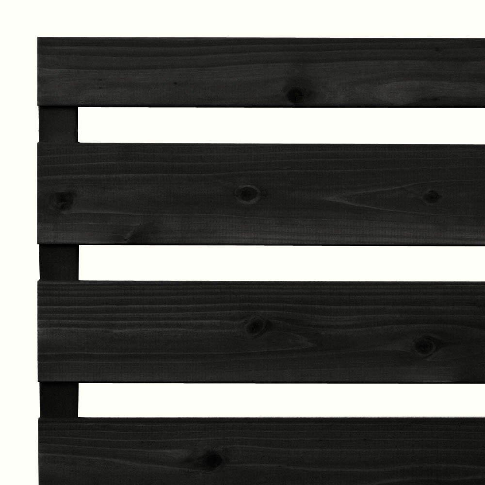 枠付き フェンス 横板B(隙間36ミリ)国産杉【上下枠】 幅1870×高さ1090×奥行36mm CB(チャコールブラック)色 B07C3QMN8T 幅1870mm,CB(チャコールブラック)