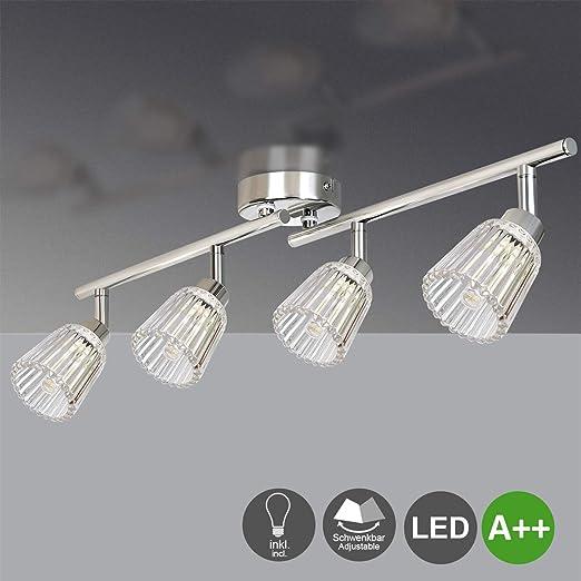 Lámpara LED de techo orientable con 4 focos, incluye 4 bombillas ...