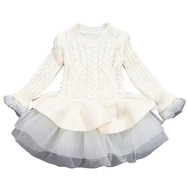 Beikoard Kinder Rock Kinder Mädchen Strickpullover Winter Pullover