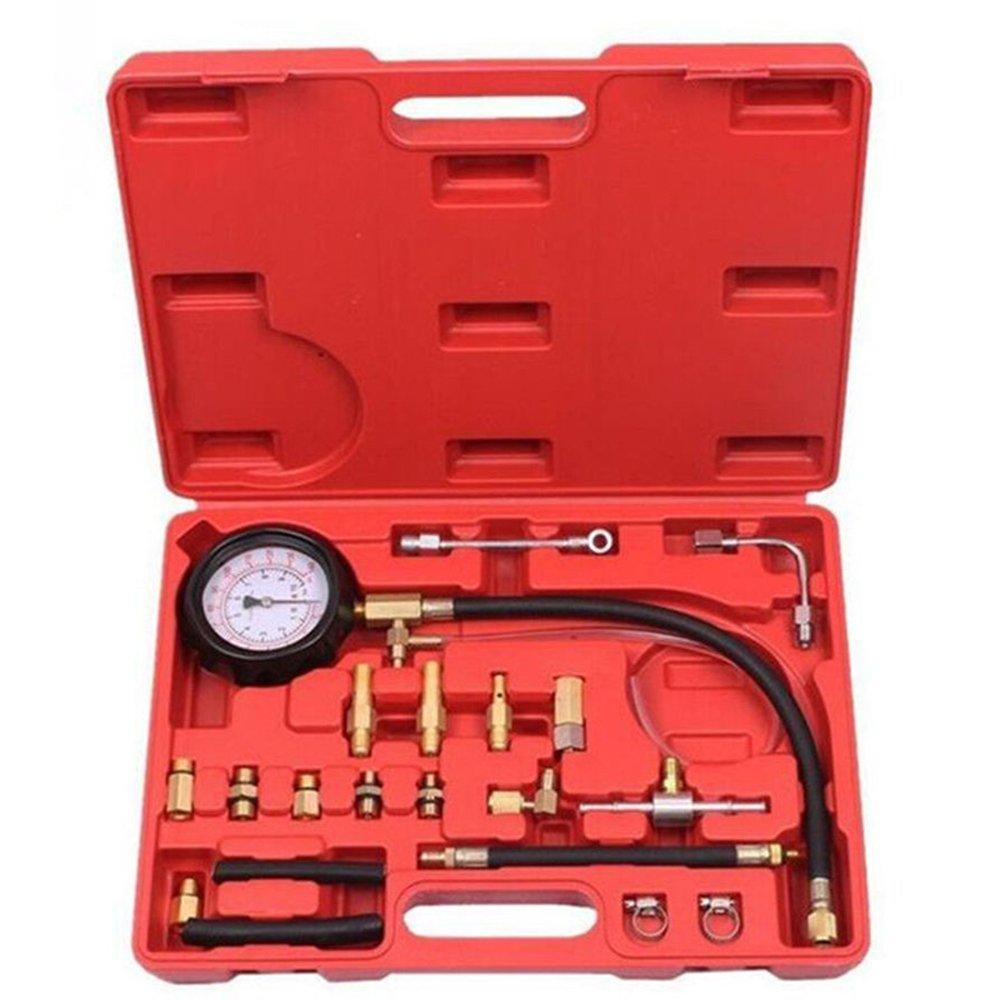 COOCHEER Professional 0-140PSI TU-114 Fuel Injection Pump Pressure Gauge Injector Tester Car Tools Kit