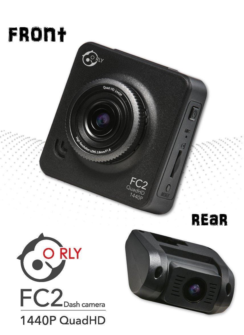 O RLY FC2 QuadHD Car Dash Cam Camera FULL HD 1440P 1080P Front and Rear Dual IMX