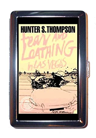Hunter S  Thompson Fear and Loathing in Las Vegas Stainless Steel ID or  Cigarettes Case (King Size or 100mm)