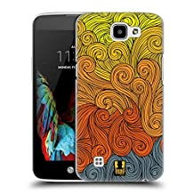 Head Case Designs Grey To Yellow Vivid Swirls Hard Back Case Cover for LG G4 / H815 / H810
