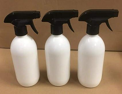 DetailedOnline 3 Botellas de plástico vacías Blancas de 500 ml ...