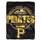 "MLB Pittsburgh Pirates ""Structure"" Micro-Raschel Throw, Black, 46 x 60-Inch"