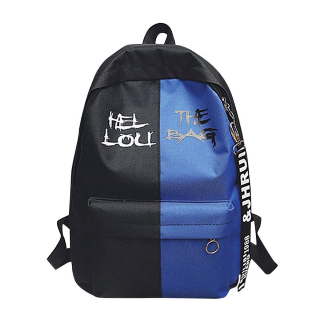 Mochila, Manadlian Moda Mujeres o hombres Bolsa para la escuela Nylon Hit Color Mochila Grip Sack (29cm(L)*13cm(W)*40cm(H), Azul): Amazon.es: Hogar