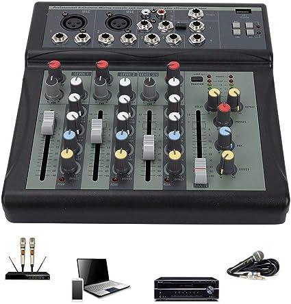Mesa de mezclas de audio de 4 canales con bajo ruido de mesa de ...