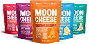 Moon Cheese, 5 Pack, Assortment (Cheddar, Gouda, Pepper Jack, Bacon Cheddar, Garlic Parmesan), 100% Cheese and Gluten Free, 2