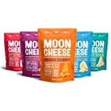 Moon Cheese, 5 Pack, Assortment (Cheddar, Gouda, Pepper Jack, Bacon Cheddar, Garlic Parmesan), 100% Cheese and Gluten Free, 2 OZ