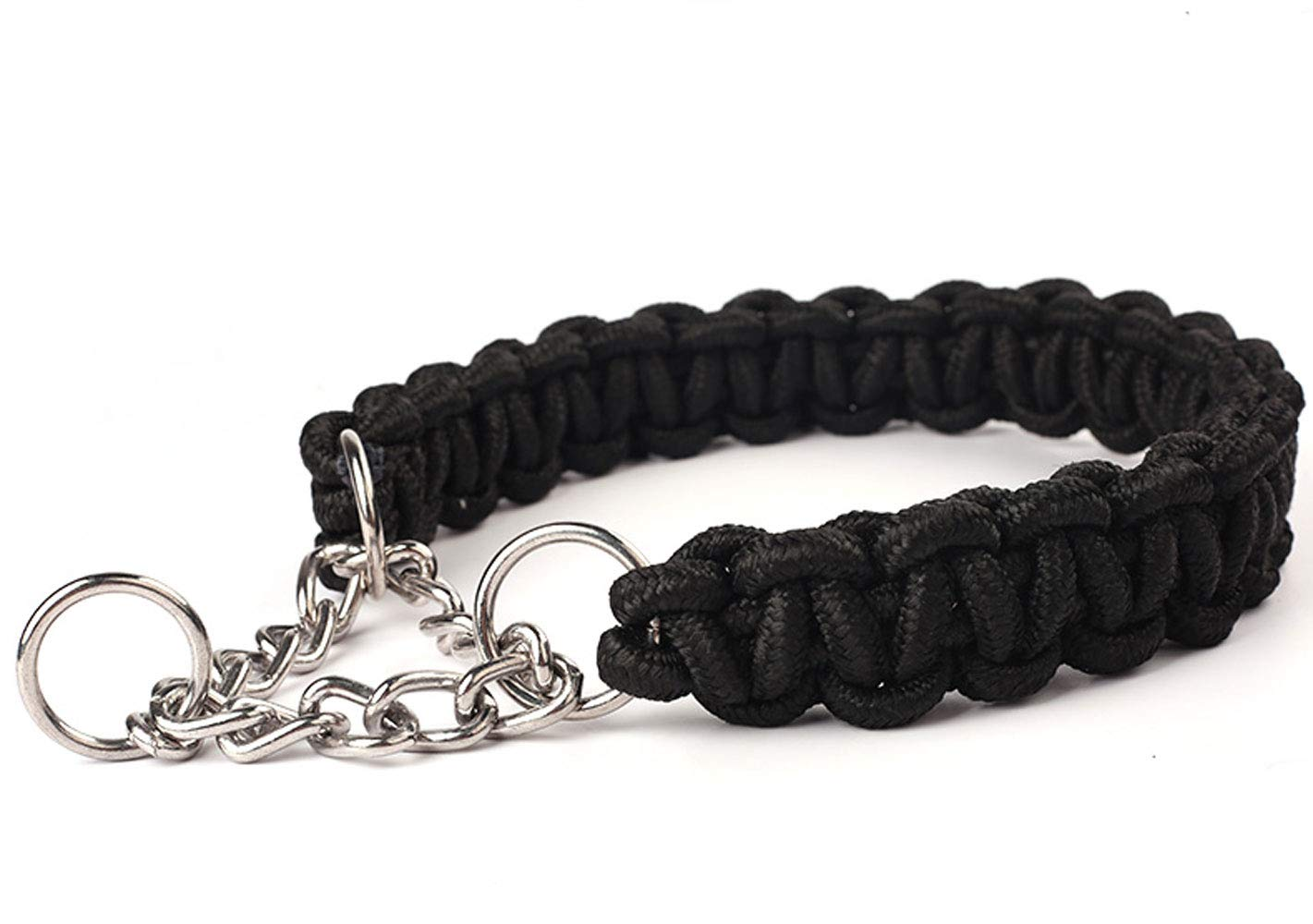 Black XL Black XL Dog Collar Nylon Pull Comfort and Soft Suitable for Medium and Large Dogs and Pet Supplies,Black,XL