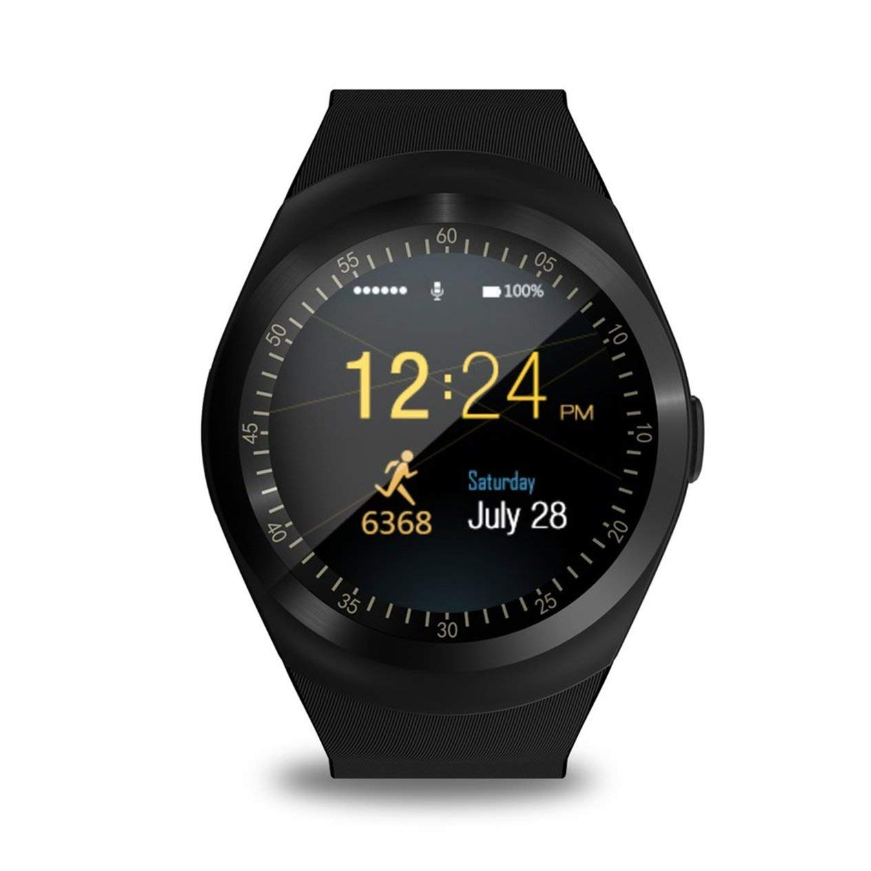 Amazon.com: Smart Watch,Y1 Round Screen Smart Watch Adults ...