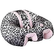 Hugaboo Infant Sitting Chair, Snow Leopard/Pink, 3-10 Months