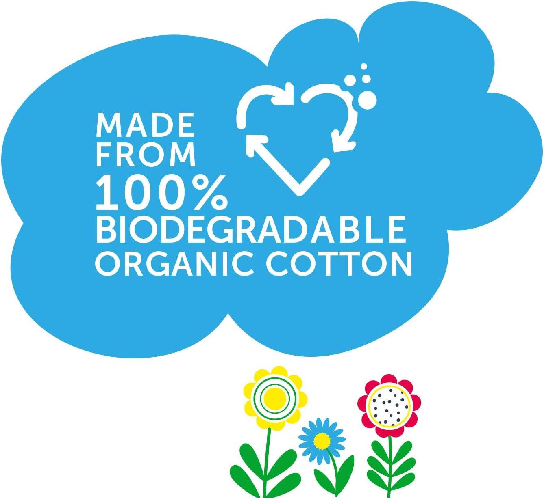 Bio-Baumwolle Rawganic Babyt/ücher biologisch abbaubar 6 St/ück