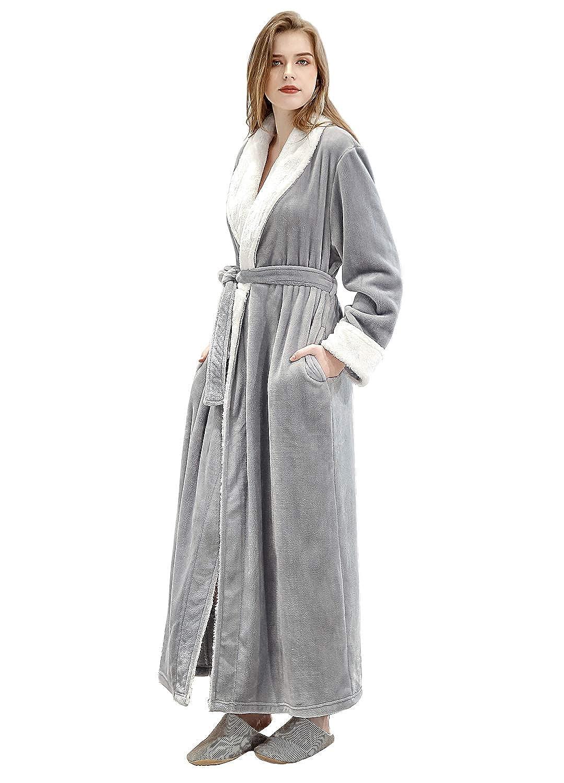 ZAKASA Accappatoio di Velluto Donna Abito da Vestire Completo Morbido e Accogliente Cappotto per Sauna Vestaglia