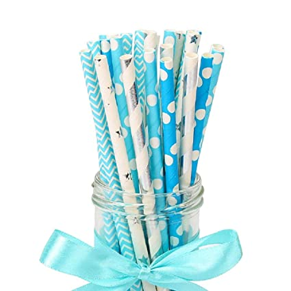 Amazon 25Pcs Paper Drinking Straws Wedding Party Table