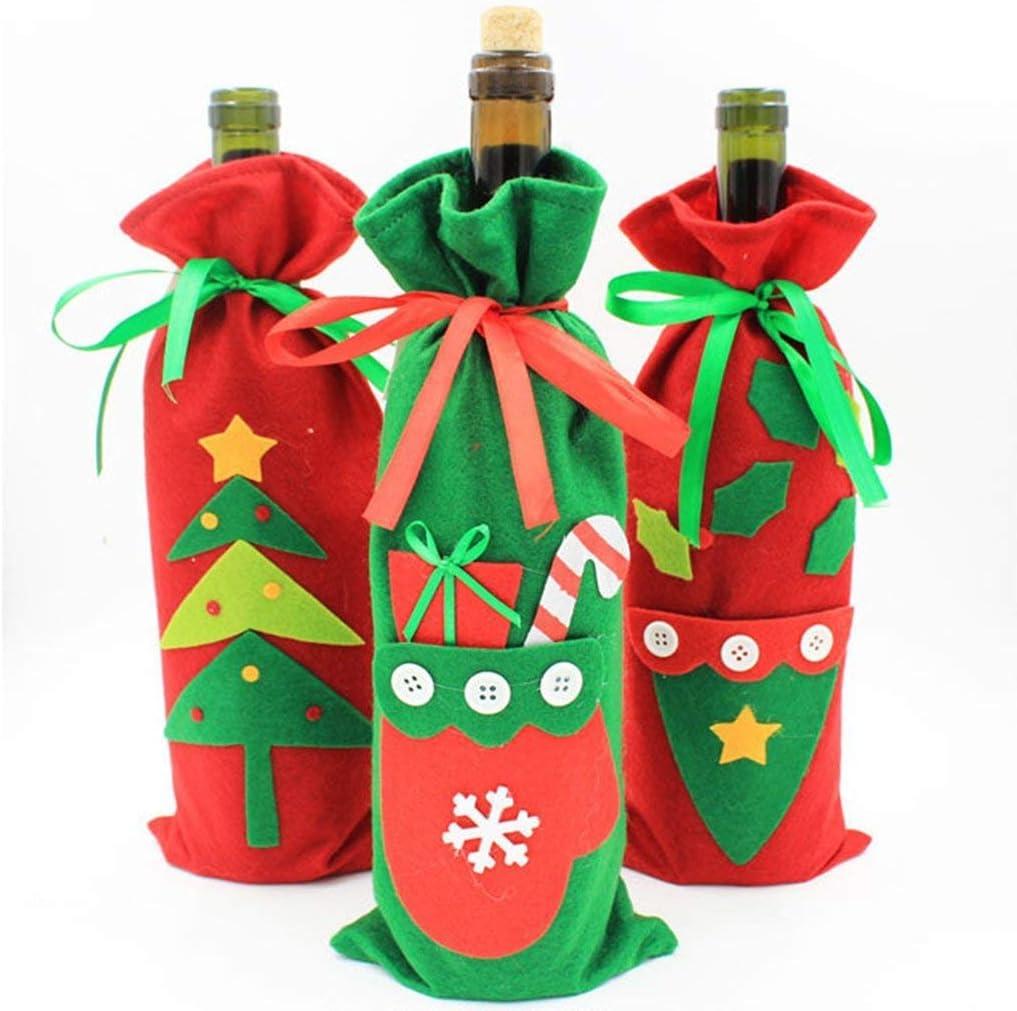 Lyanther Navidad Botella Cover – Cabestro Bolsa de Regalo Navidad Cena Mesa decoración Pack de 3: Amazon.es: Juguetes y juegos