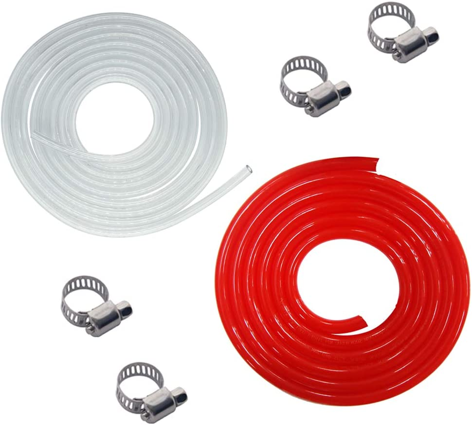 Draft Warehouse Beer Gas Line - LUCKEG Brand Include 3/16 Beer Line 10ft, 5/16 Red Gas Line 10ft, Homebrew Kegging System Tools