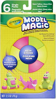 product image for Crayola Model Magic, Neon Colors, Clay Alternative, 6 Single Pack, Model Magic Neon Colors