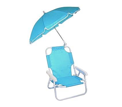 Mediawave Store 2576 Silla Plegable para niños con sombrilla protección Rayos UV