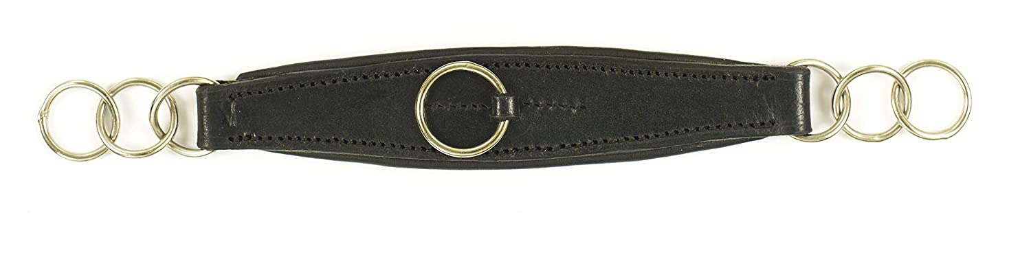 Camelot Contour Padded Curb Chain Black Horse