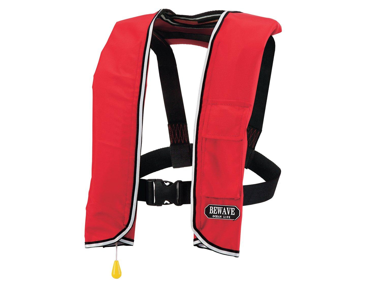 手動膨張式ライフジャケット 肩掛式 LG-3型レッド 国交省認定品 新基準対応   B00XKEWDHG