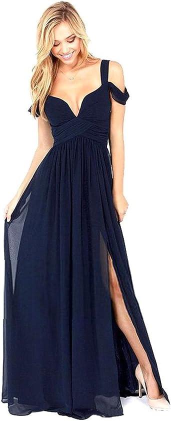 Side Slit Maxi Bridesmaid Dresses
