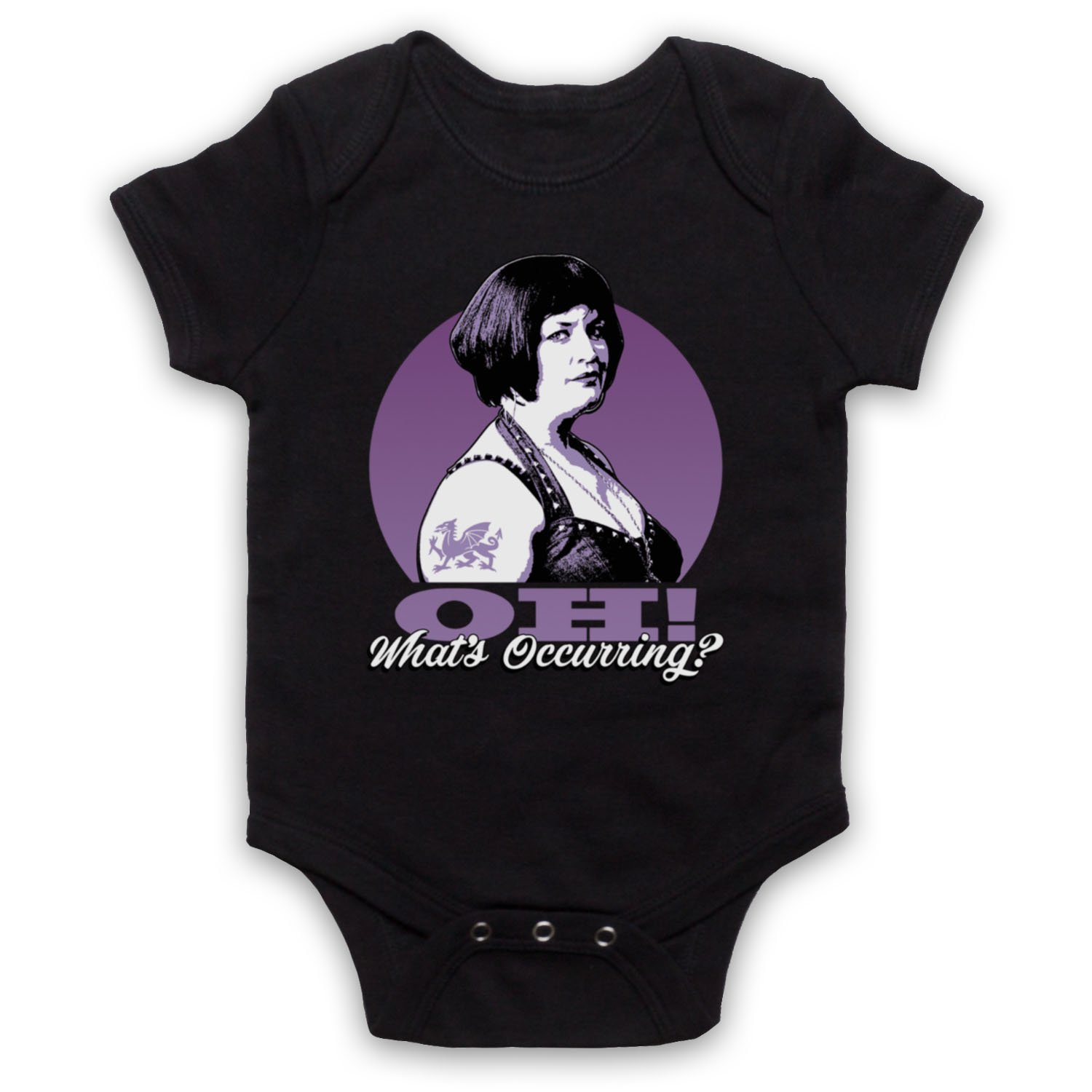 Inspired Apparel Inspired by Gavin Ness Oh Whats Occurring Comedy TV Unofficial Baby Grow
