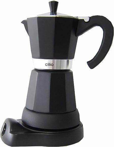 Cilio Classico - Cafetera eléctrica de Estilo Italiano (6 Tazas), Color Negro: Amazon.es: Hogar