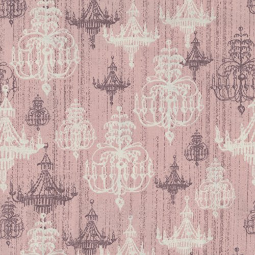 """Shabby Chic 43"""" Wide 100% Cotton 5Yd D/R-Pink Chandelier"""