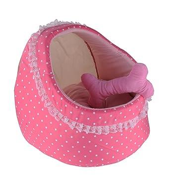 Príncipe & princesa Pet nicho cama para perro gato casa rosa/azul
