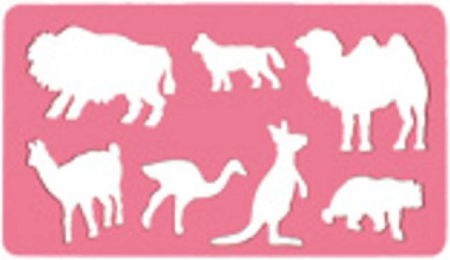KOH-I-NOOR 074905800000 Drawing Template Animals Transparent Pink