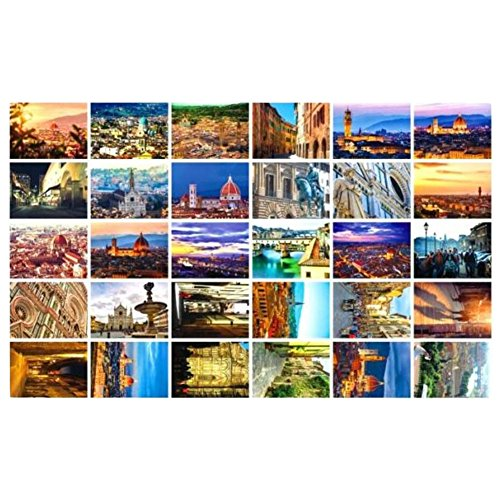 Beautiful Travel Scenery 30 PCS Artistic Retro Postcards-Florence ()