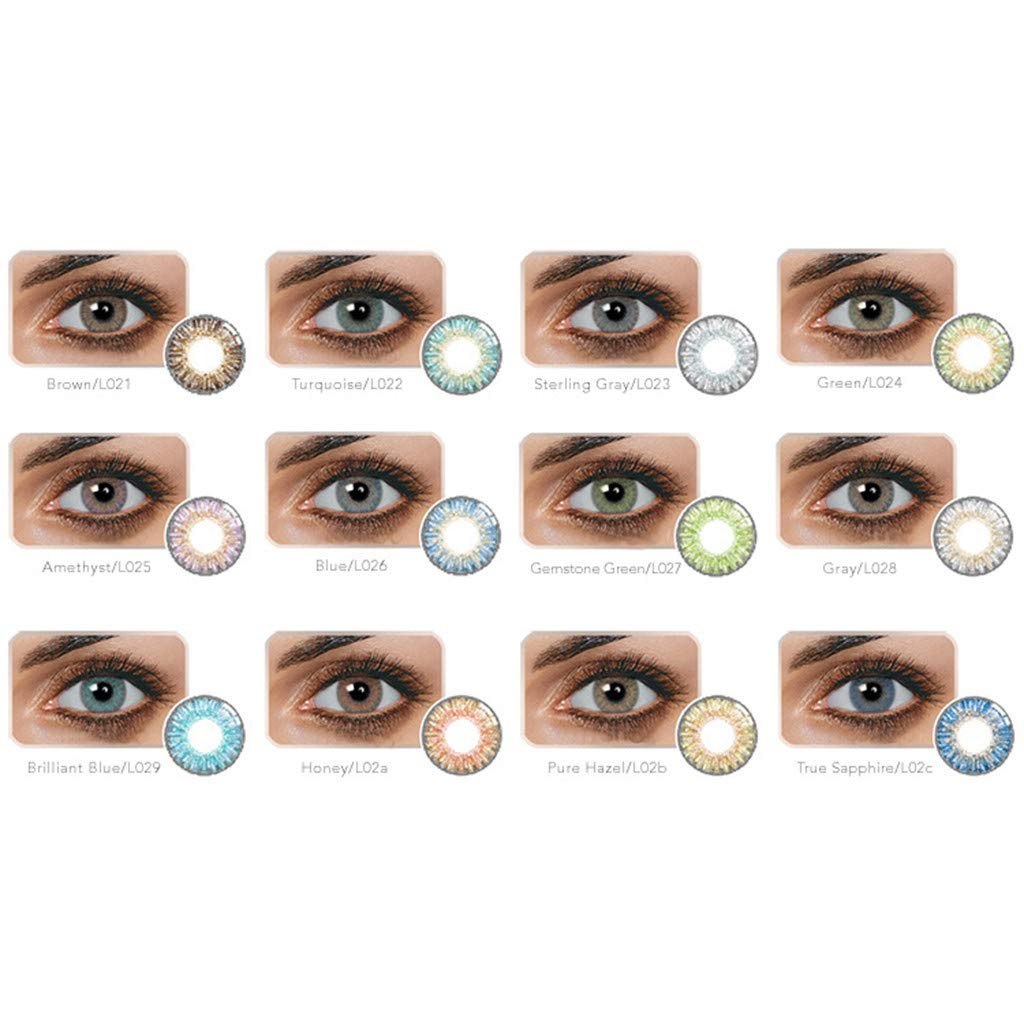 Ohome 1 Pair of Tone Colored-Lenses,Enlarger Eyes Supernatural/_Lens,Fashion Eye/_Lenses,Beautiful Color Student/_Lens Case SapphireB