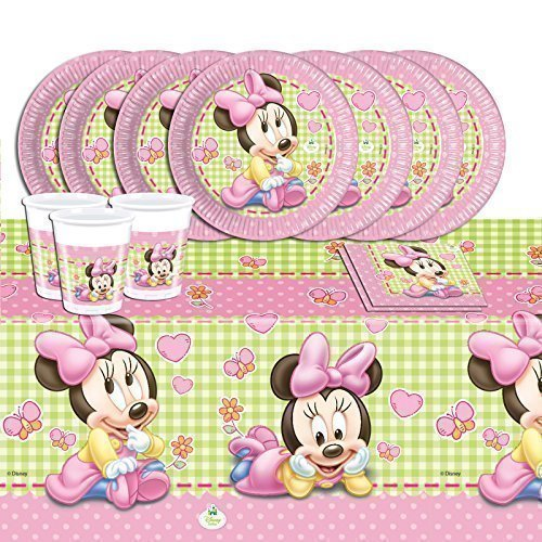 Disney Baby Shower Pink Minnie Mouse Complete Party Supplies Kit For 16 by Party Showroom by Disney