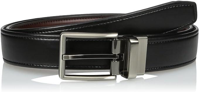 Dockers Men/'s Reversible Casual Dress Belt With Comfort Stretch Cognac//Black