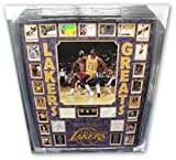 Chamberlain Jabbar Kobe Bryant Shaq Magic Auto Lakers Floor Legends Greats Frame