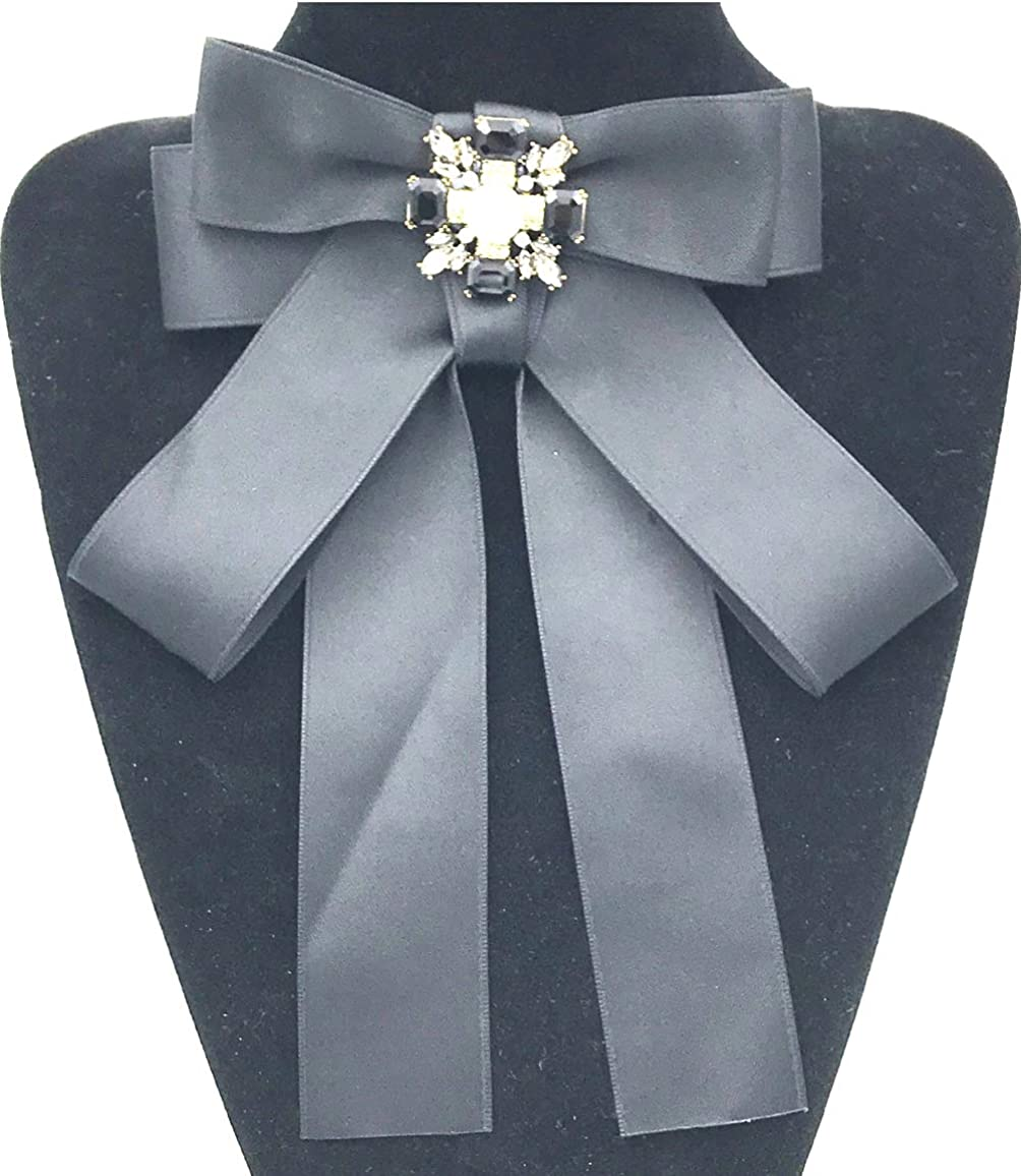 Womens Large Bow tie of the Rhinestone Bow Collar for party bow brooches