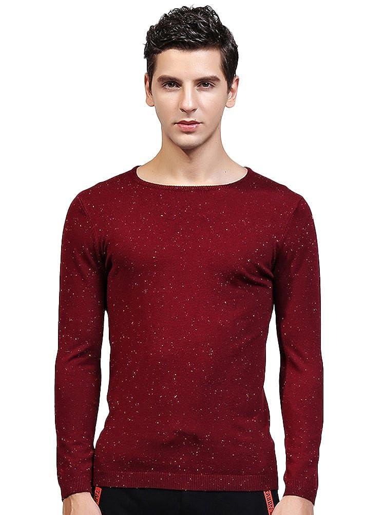 SK Studio Mens Slim Fit Casual Long Sleeve Pullover Sweater