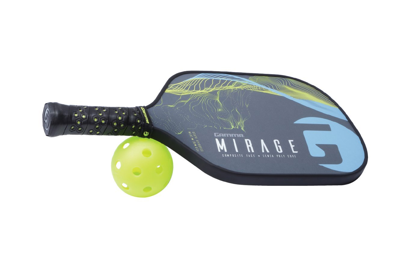 Gamma Mirage Composite Pickleball Paddle: Pickle Ball Paddles for Indoor & Outdoor Play - USAPA Approved Racquet for Adults & Kids - Blue/Yellow by Gamma (Image #7)