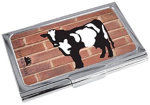Rot Schwarz Silber Red Brick Moo Visitenkarte Halter Von