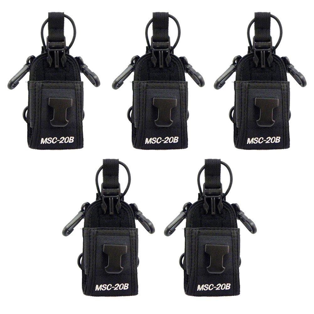 Tenq 5pack Msc-20b Multi-functional Radio Case Pouch for Motorola Kenwood Midland Icom Yaesu Baofeng Two Way Radio