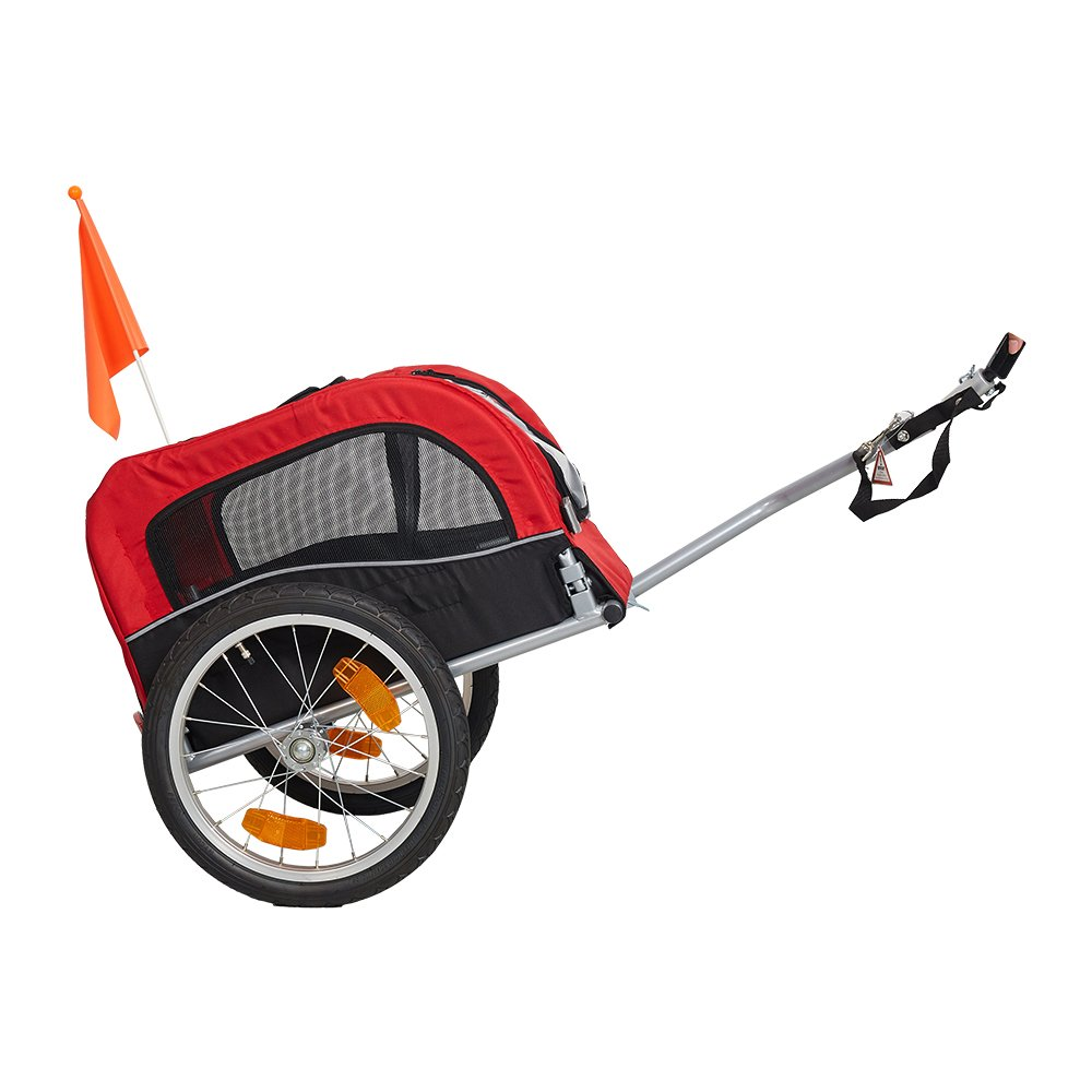 Lucky Tree Pet Dog Bike Trailer Bicycle Trailer Carrier Cycling Jogging w/Suspension by Lucky Tree (Image #2)