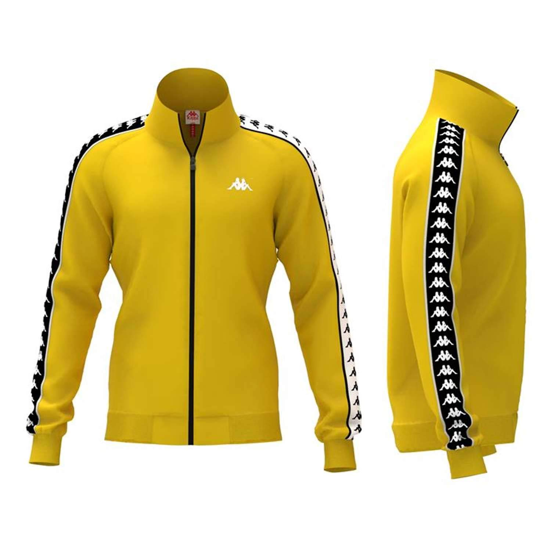 Kappa felpa kappa gialla giallo 10a: Amazon.it