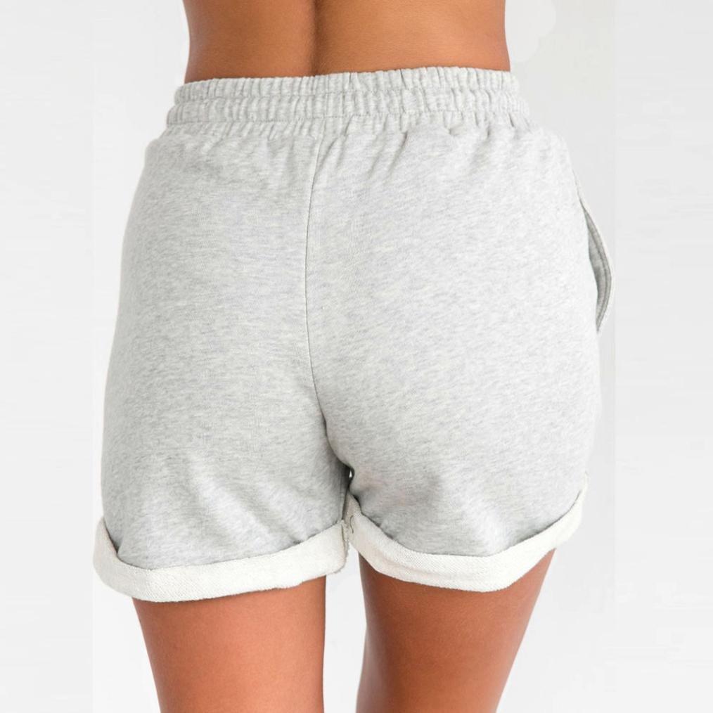 Shorts Damen Sommer URSING Frauen Hotpants Beil/äufig Shorts Kurze Hose mit hoher Taille Sommershorts Strandshorts Sport Yoga Freizeit Shorts Damenhosen mit Verstellbarem Tunnelzug